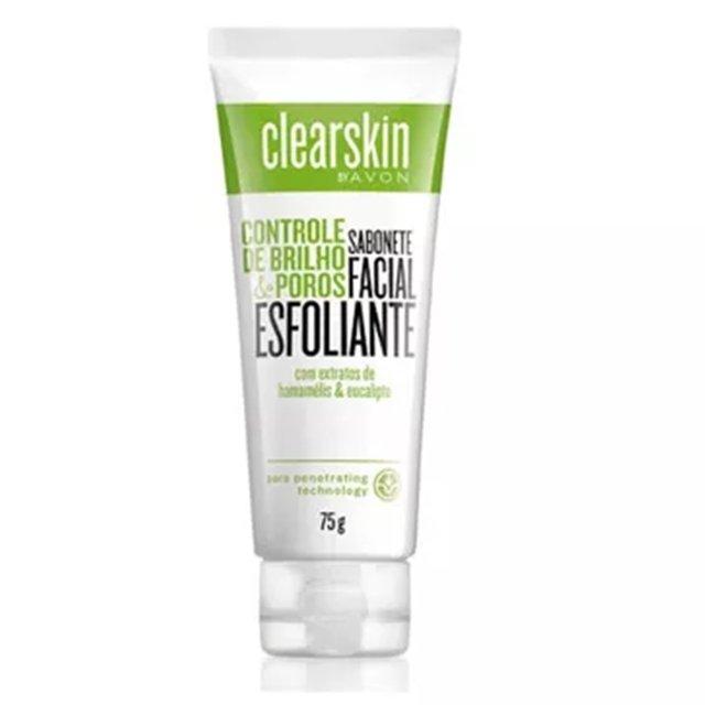 Avon Clearskin Sabonete Esfoliante Facial de Limpeza Profunda 75g