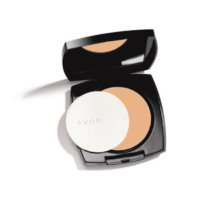 Avon Maquiagem Ideal Face Pó Compacto Facial Efeito Matte FPS 24 Amêndoa 11g