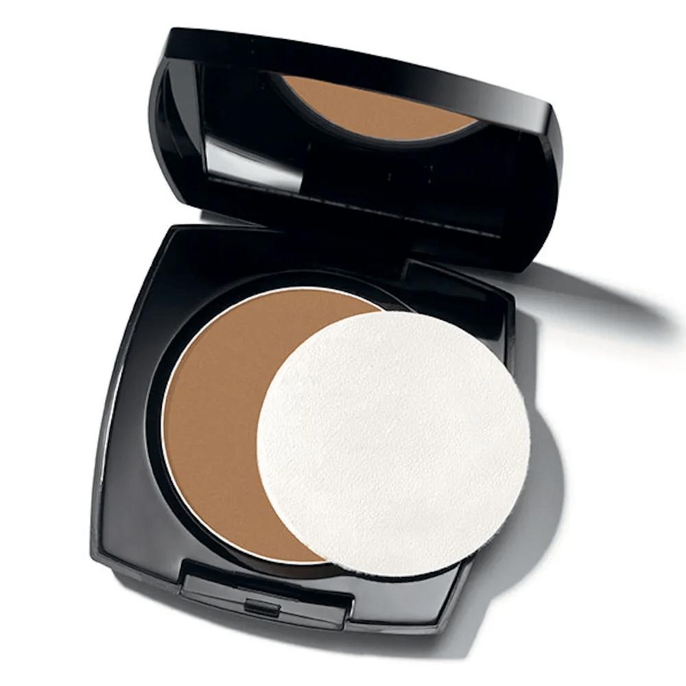 Avon Maquiagem Pó Compacto Facial Efeito Matte Bege Escuro (antigo Marrom Claro) 11g