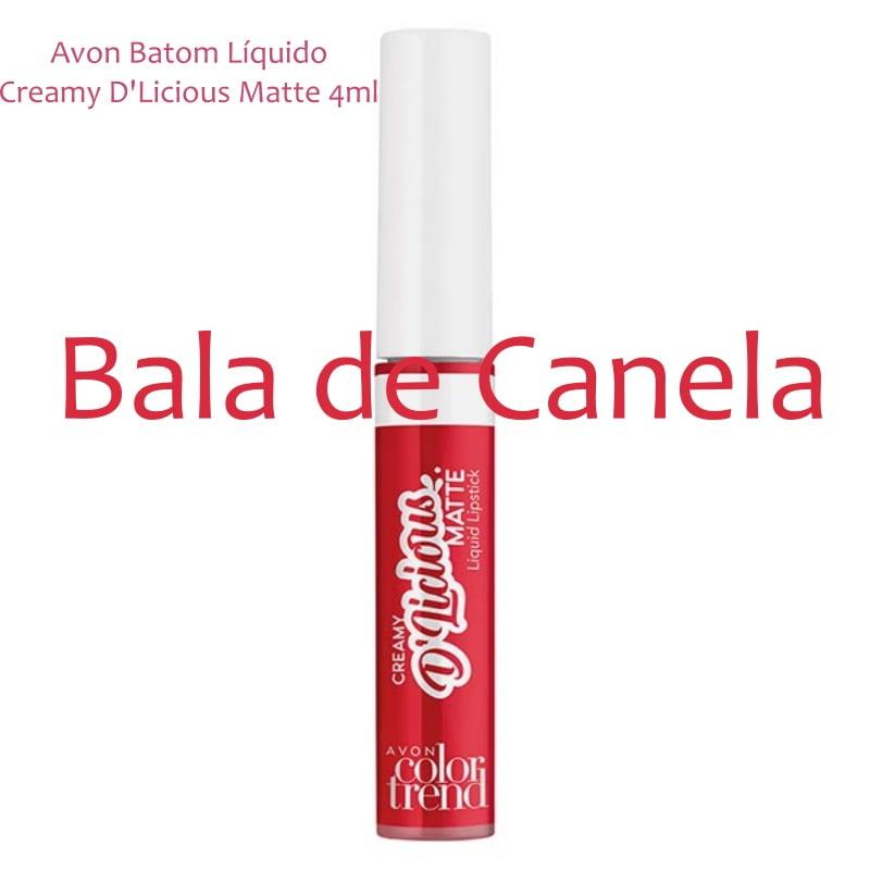 Avon Batom Líquido Creamy D'Licious Matte Bala de Canela 4ml