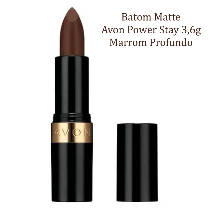 Avon Batom Matte Avon Power Stay 3,6g Marrom Profundo