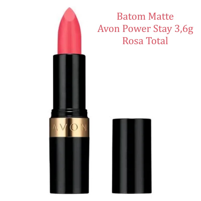 AVON BATOM MATTE AVON POWER STAY ROSA TOTAL 3,6G