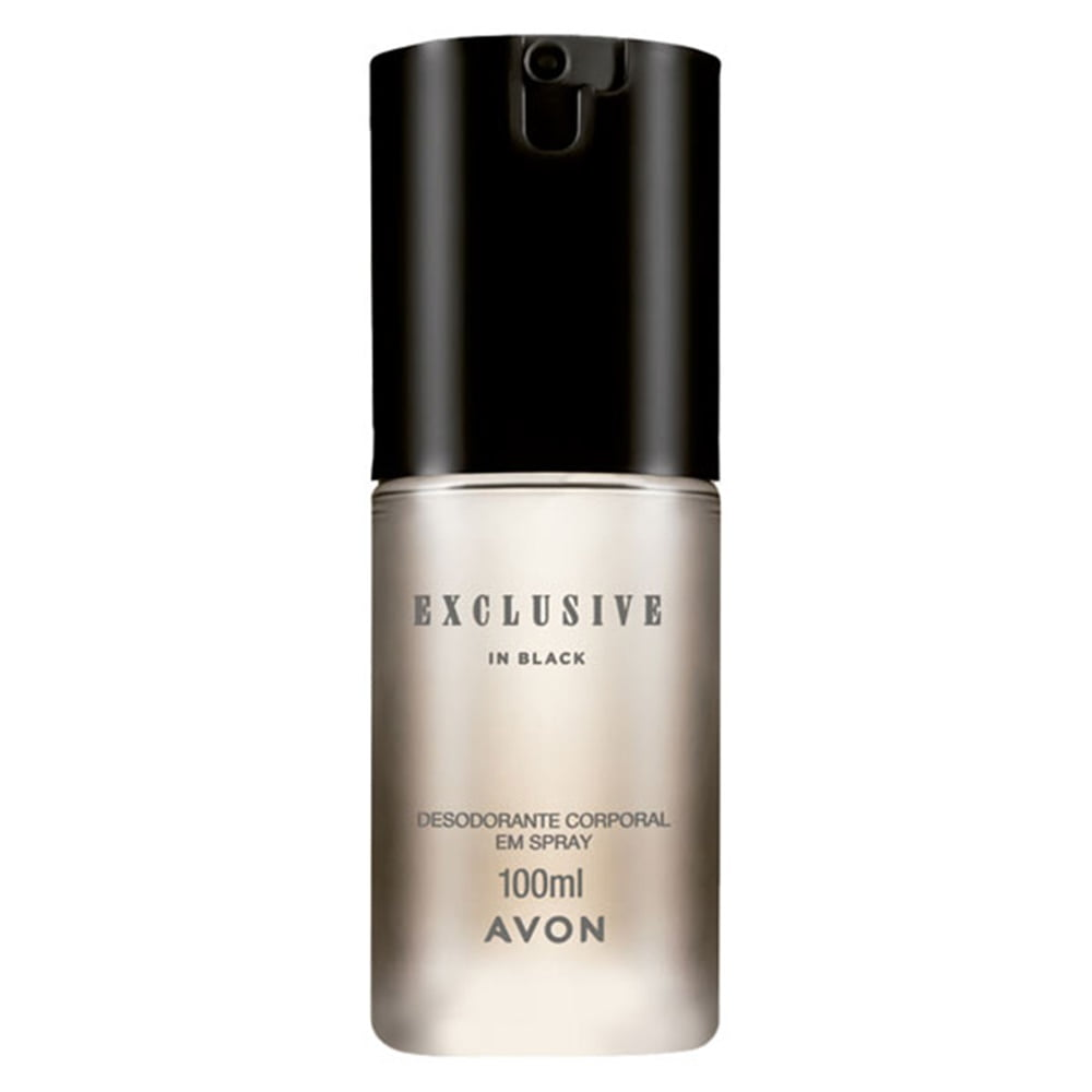 Avon Exclusive in Black Desodorante Corporal em Spray 100ml