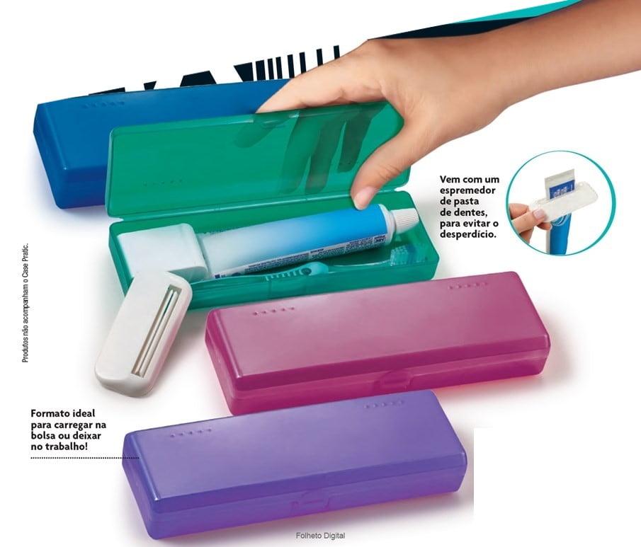 Avon Moda e Casa Case Pratic Azul ou Rosa - Resistente Multiuso