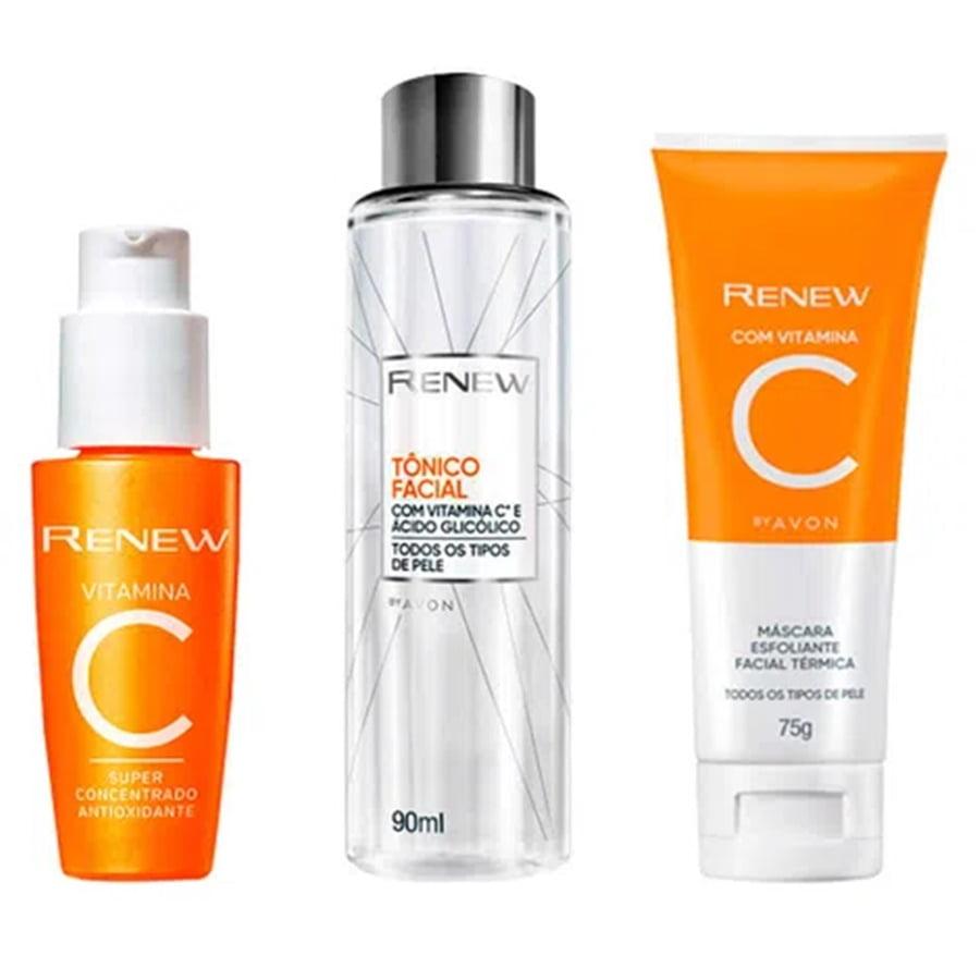 Avon Renew Clinical Kit Vitamina C + Tônico + Máscara