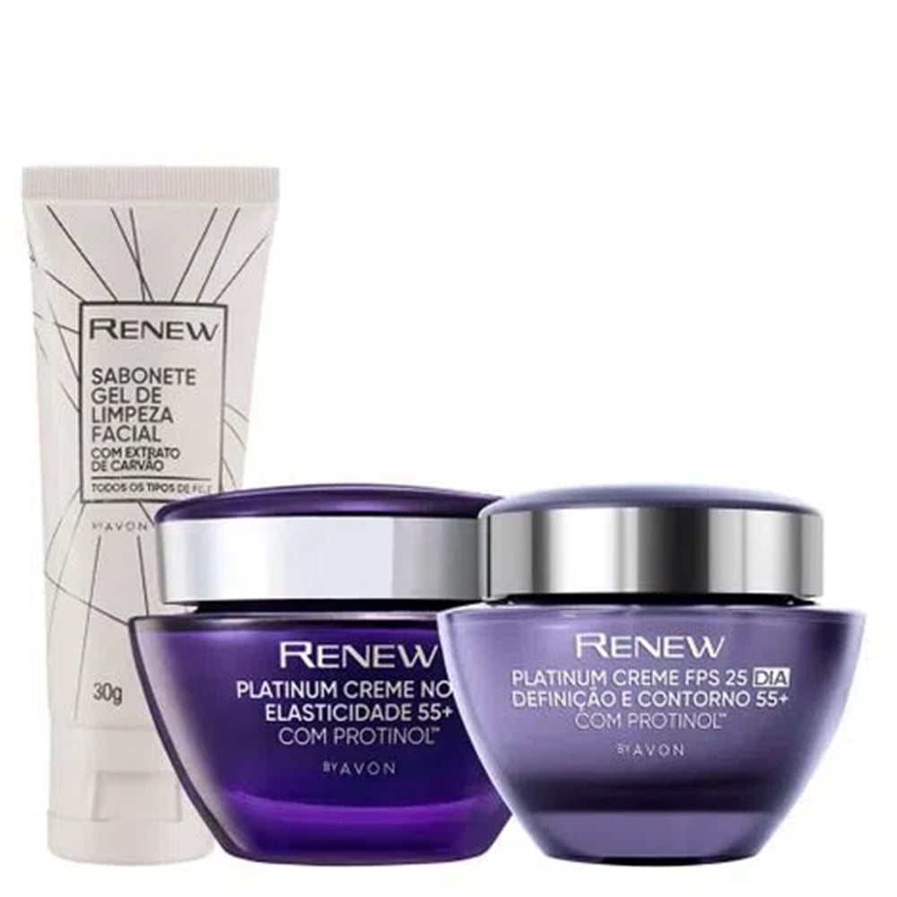 Avon Renew Platinum 55+ Kit Dia + Noite + Gel