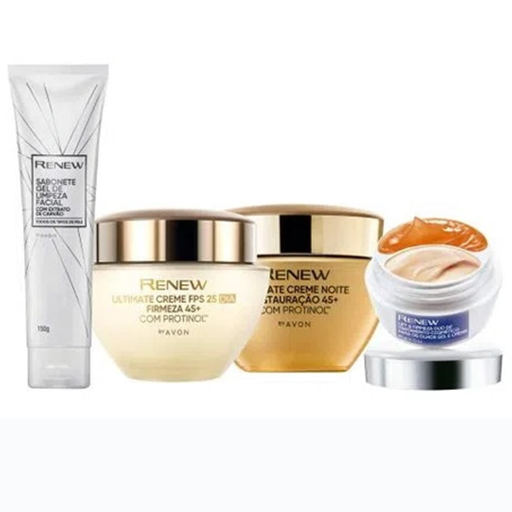 Avon Renew Ultimate Kit 45+ Dia + Noite + Gel + Olhos