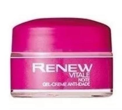 Avon Renew Vitale indicado para 25 anos ou mais Noite Gel Creme Anti-idade 15g MINIATURA