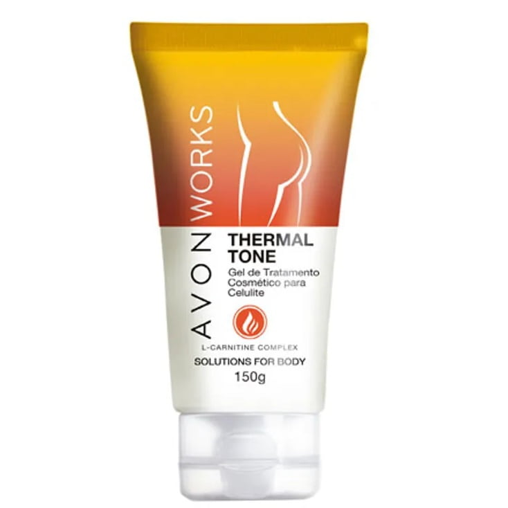 Avon Works THERMAL TONE SOLUTIONSGEL DE TRATAMENTO COSMÉTICO PARA CELULITE 150G SOLUTIONS FOR BODY
