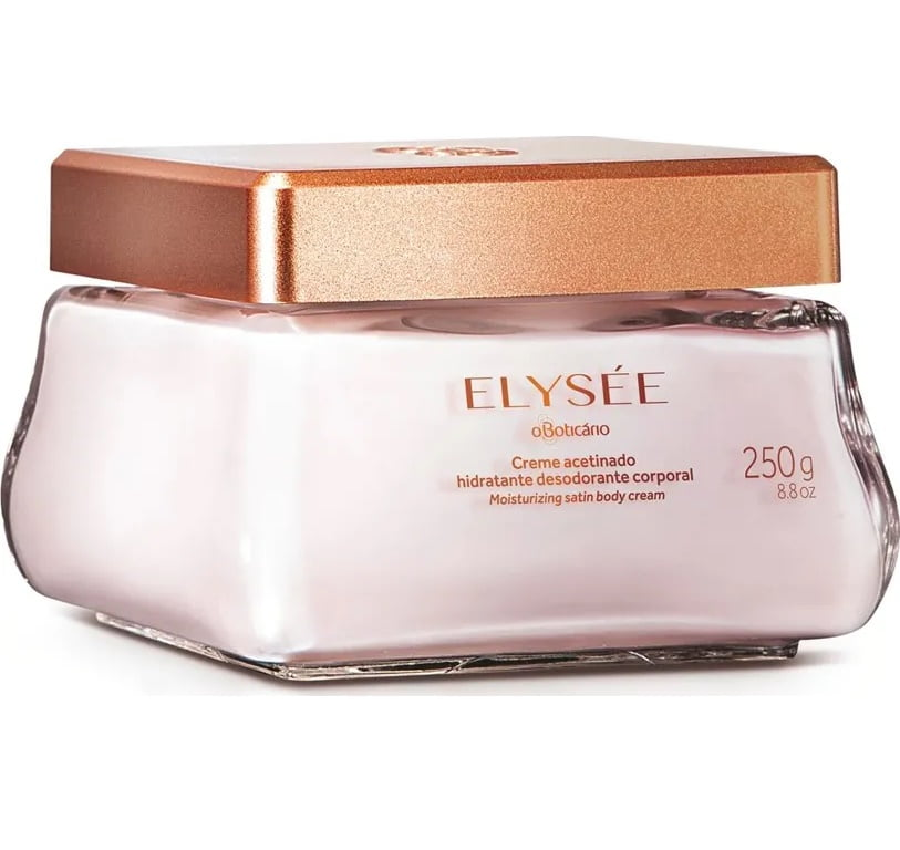 Elysée O Boticário Creme Acetinado Hidratante Desodorante 250g