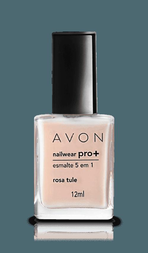Avon Nailwear PRO+ Esmalte 5 em 1 Rosa Tule Cremoso 10ml