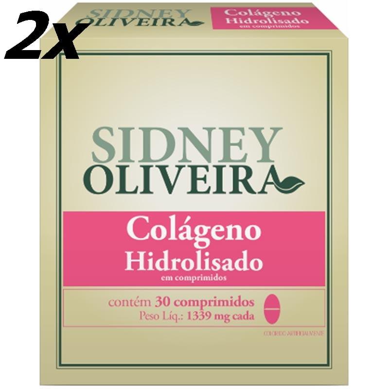2 x Colágeno Hidrolisado 1339mg - Sidney Oliveira 30 Comprimidos (total 60 comprimidos)
