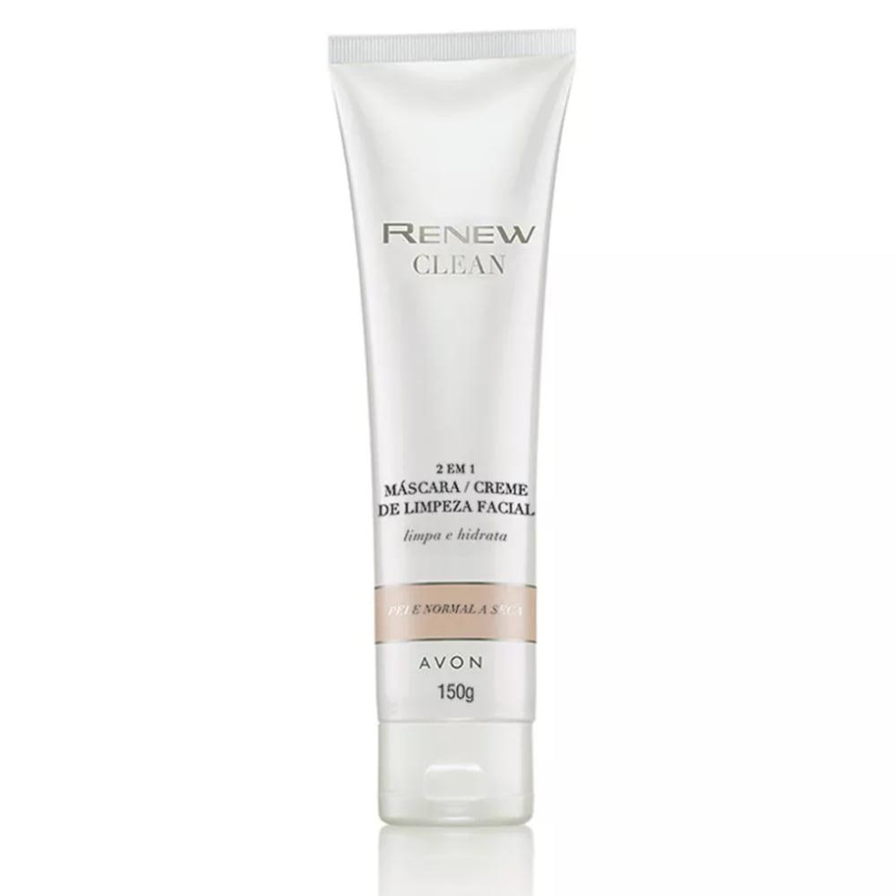 Avon Renew Clean 2 em 1 Máscara/Creme de Limpeza Facial 150 g