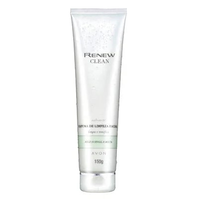 AVON RENEW CLEAN SABONETE ESPUMA DE LIMPEZA FACIAL 150 G