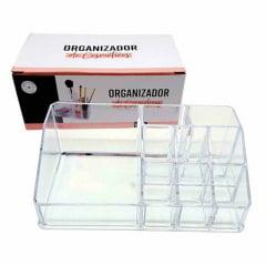 Porta Maquiagem Batom Organizador de Cosméticos Acrílico com 9 Divisões Avon Moda e Casa Organizador de Cosméticos 18x10x7