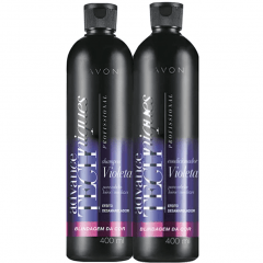ADVANCE TECHNIQUES COMBO SHAMPOO+CONDICIONADOR VIOLETA BLINDAGEM DA COR 400ml  - Cópia (1)