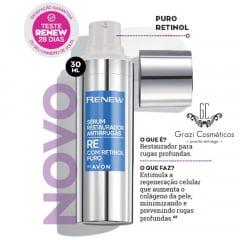 Avon Renew Clinical Sérum Antirrugas Renew Restaurador com Retinol Puro 30ml