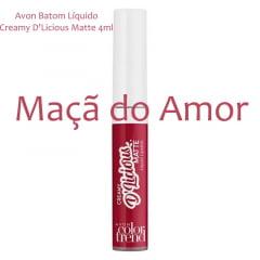 Avon Batom Líquido Creamy D'Licious Matte Maçã do Amor 4ml