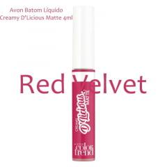 Avon Batom Líquido Creamy D'Licious Matte Red Velvet 4ml