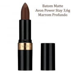 AVON BATOM MATTE AVON POWER STAY MARROM PROFUNDO 3,6G