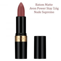 AVON BATOM MATTE AVON POWER STAY NUDE SUPREMO 3,6G