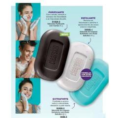 Avon Clearskin Sabonete de Limpeza para Rosto e Corpo em barra 90g 3 unidades