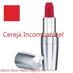 AVON LEGEND PRO BATOM MATTE LEGEND  CEREJA INCOMPARÁVEL 3,6g