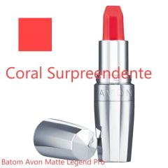 AVON LEGEND PRO BATOM MATTE LEGEND  CORAL SURPREENDENTE 3,6g