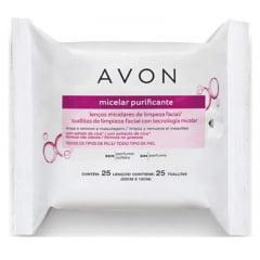 Avon Lenços Micelares de Limpeza Facial - 25 lenços