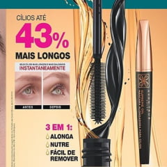 AVON Máscara de Cílios Alongadora Avon True Color Supreme Oil Preta 7g