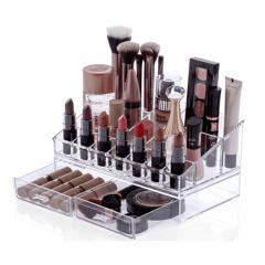 Avon Moda e Casa Organizador Porta Maquiagem Pincel Batom Acrílico 2 Gavetas
