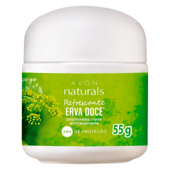 Avon Naturals Desodorante Creme Antitranspirante Erva Doce 55g