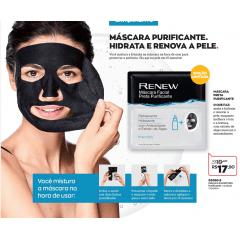 Avon Renew Máscara Facial Preta Purificante 25ml 1 máscara