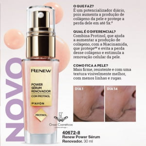 Avon Renew Power Serum Renovador Com Protinol  30ml