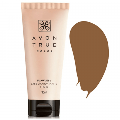 Avon True Color FLAWLESS Base Líquida Matte FPS 15 30 ML CACAU