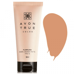 AVON TRUE COLOR BASE LÍQUIDA MATTE FPS 15 TRUE COLOR 30ML BEGE