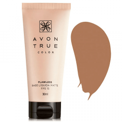 Avon True Color FLAWLESS Base Líquida Matte FPS 15 30 ML CASTANHO ESCURO