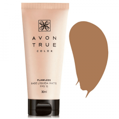AVON TRUE COLOR BASE LÍQUIDA MATTE FPS 15 TRUE COLOR 30ML MEL CLARO