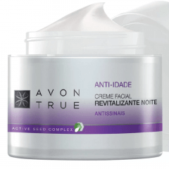 AVON TRUE Creme Facial Anti-idade Revitalizante Noite 50 g - Incolor
