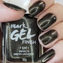 Esmalte Gel Finish 7 em 1 Preto Universo Mark Avon 10 g