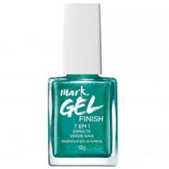 Esmalte Gel Finish 7 em 1 Verde Gaia Mark Avon 10 g