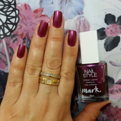 Esmalte Nail Style Cosmic Lights Rosa Cintilante Avon 10g