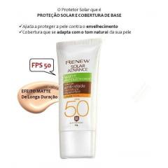Protetor Solar Com Cor Clara Avon Renew FPS 50 50 ml