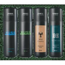 Avon Desodorante Spray Masculino Musk Fresh, Musk Marine, Tai Winds e Wild Country 80 ml