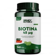 Biotina 45mcg Leve 240 Cápsulas Sidney Oliveira
