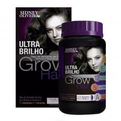 GROW HAIR ULTRA BRILHO SIDNEY OLIVEIRA 60 CÁPSULAS