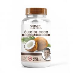 ÓLEO DE COCO SEM SABOR E SEM CHEIRO EDU GUEDES - SIDNEY OLIVEIRA 200ML