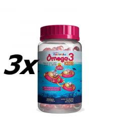 Ômega 3 Kids 500mg - Turma do Pakaraka 3x 60 Cápsulas Mastigáveis