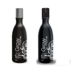 SHAMPOO FORTIFICANTE GROW HAIR 300ML + CONDICIONADOR FORTIFICANTE GROW HAIR 300 ML SIDNEY OLIVEIRA