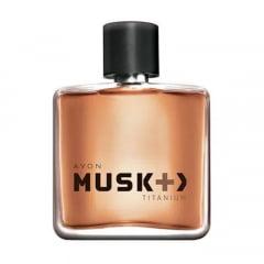 Avon Musk+ Titanium Colônia Desodorante Spray 75 ml